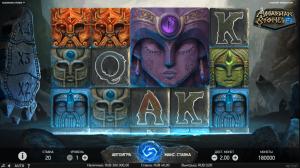 интерфейс игрового автомата asgardian stones от netent