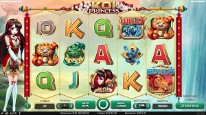 интерфейс игрового автомата koi princess от netent