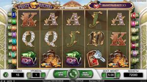 интерфейс игрового автомата piggy riches от netent