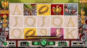 интерфейс игрового автомата victorious